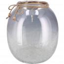 Glass lantern Otaki, D20cm, H24cm, gray